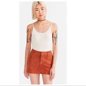 Cooperative Suede Skirt